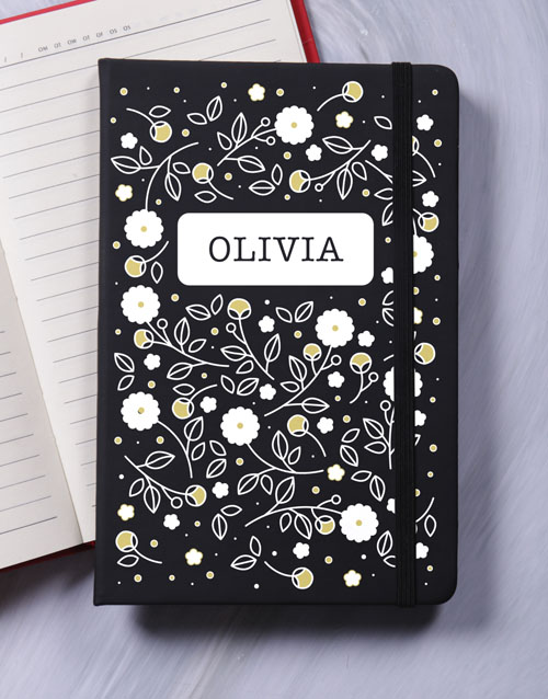 christmas: Personalised Blossom A5 Notebook!