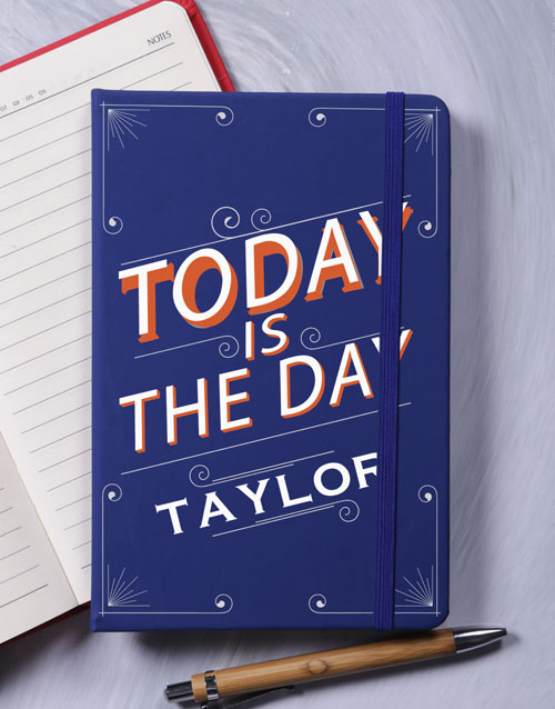 birthday: Personalised Today A5 Notebook!