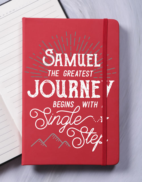 personalised: Personalised Journey A5 Notebook!