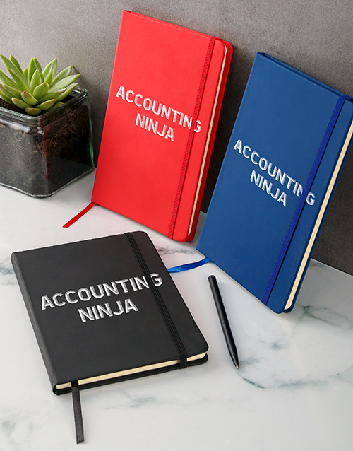 bosses-day: Personalised Ninja A5 Notebook!