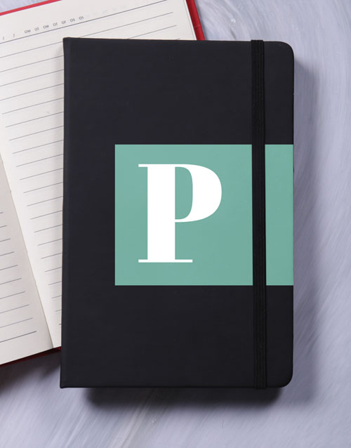 christmas: Personalised Initial Block Notebook!