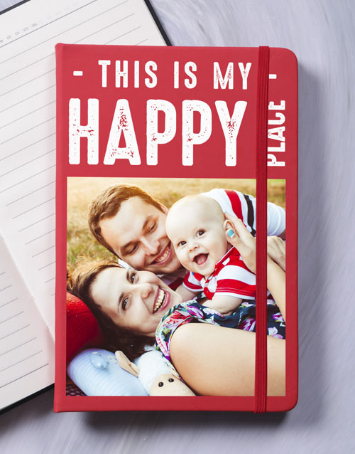 christmas: Personalised Happy Place Notebook!
