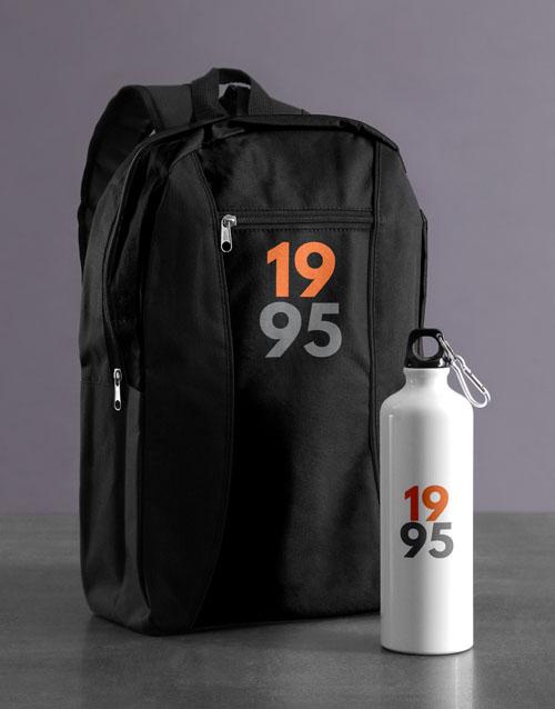 personalised: Personalised Year Backpack & Waterbottle!