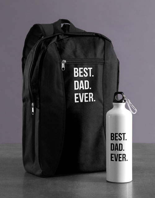 fathers-day: Personalised Best Ever Backpack & Waterbottle!