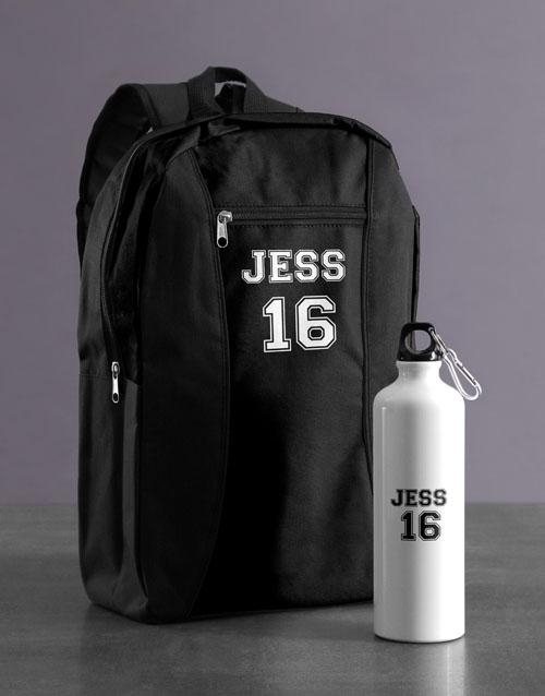 personalised: Personalised Player Backpack & Waterbottle!