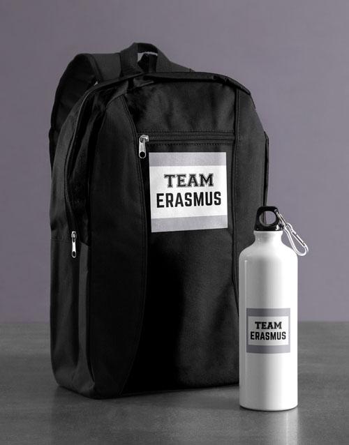 personalised: Personalised Team Backpack & Waterbottle!