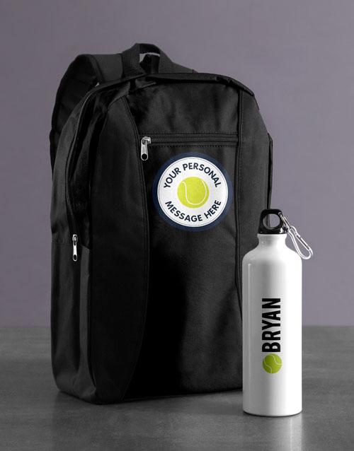 personalised: Personalised Tennis Backpack & Waterbottle!