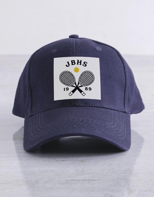 personalised: Personalised Navy Tennis Club Cap!