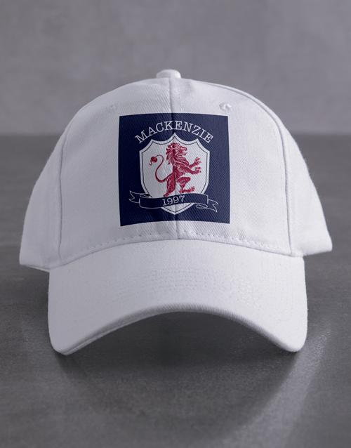personalised: Personalised Crest Cap!