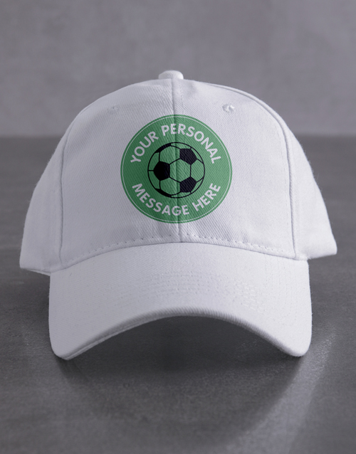 personalised: Personalised Soccer Cap!