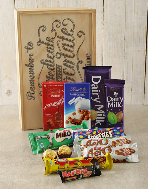 get-well: Personalised Self Medicate Choc Crate!