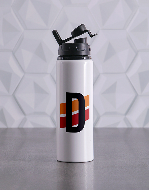 fathers-day: Personalised Racing Stripe initial Waterbottle!