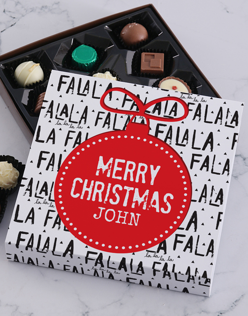 chocolate: Personalised Christmas Falala Tray!