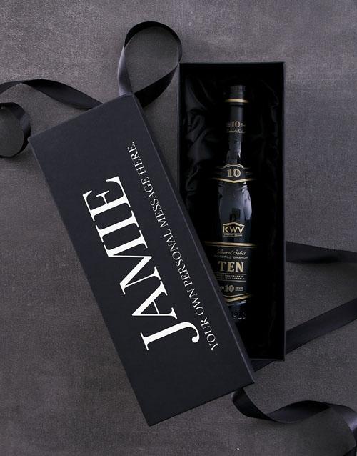 christmas: Personalised KWV 10 YR Giftbox!