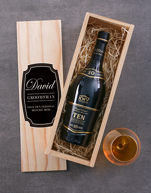 fine-alcohol: Personalised KWV Ten Year Brandy Crate!