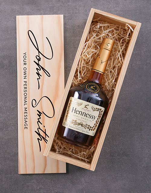 personalised: Personalised Hennessy VS Printed Crate!