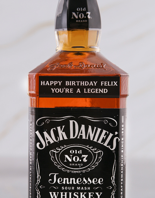 personalised: Personalised Jack Daniels Whiskey!