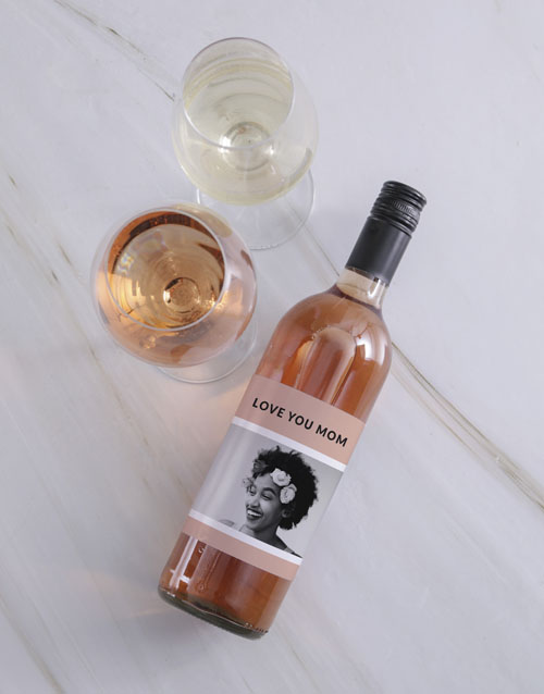 personalised: Personalised Vintage Pink Photo Wine!