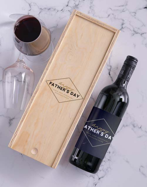 fathers-day: Personalised Fathers Day Wine In Crate!