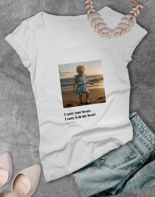 mothers-day: Personalised Photo Quote Ladies T Shirt!