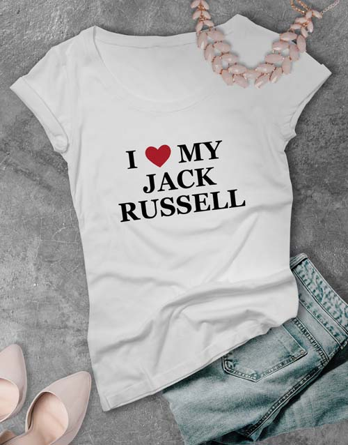 personalised: Personalised I Love My Ladies T Shirt!