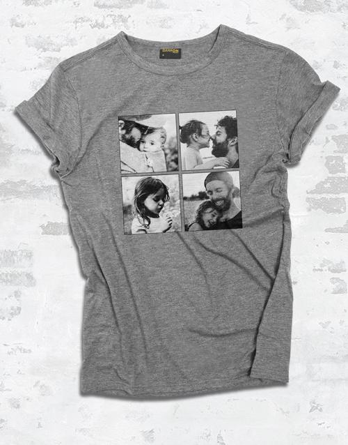 personalised: Personalised Photo Quartet Ladies T Shirt!