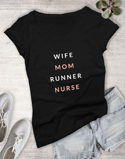 clothing: Personalised Wife Runner Ladies T Shirt!