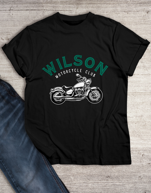 personalised: Personalised Authentic Motorcycle T Shirt!