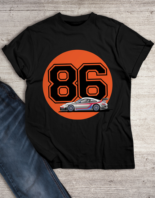 personalised: Personalised Year Race Car T Shirt!
