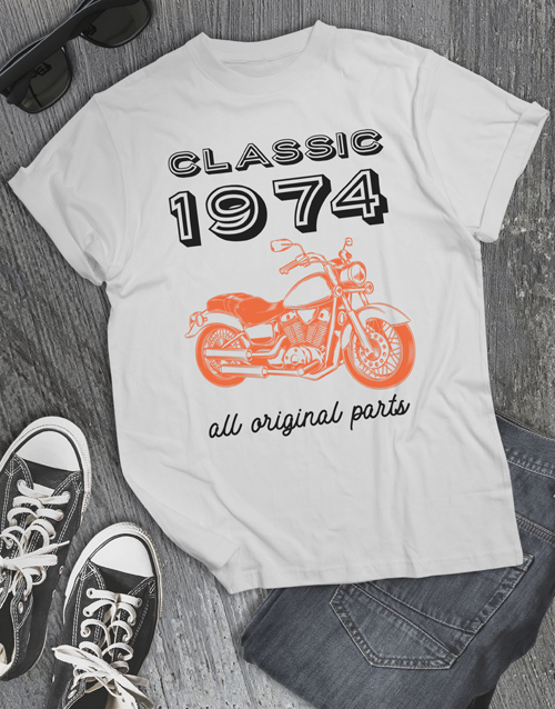personalised: Personalised Classic Year T Shirt!