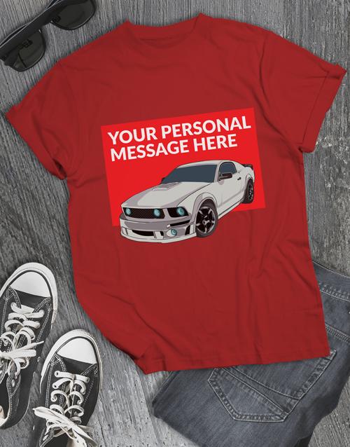 personalised: Personalised Racecar T Shirt!