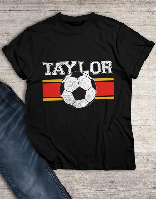 personalised: Personalised Vintage Soccer T Shirt!