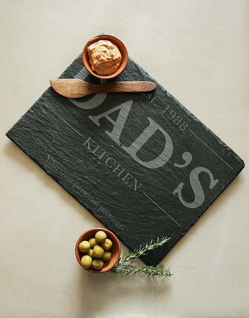 birthday: Personalised Dad Kitchen Slate Board!