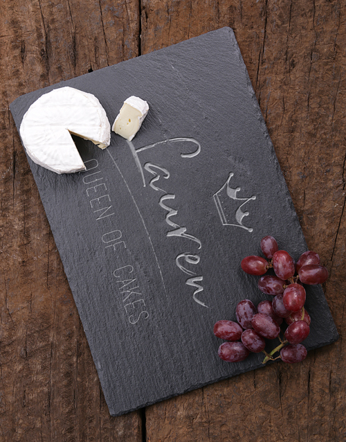 gifts: Personalised Queen Of Cakes Slate Board!