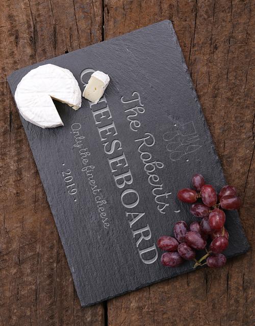 homeware: Personalised Finest Cheese Slate Board!