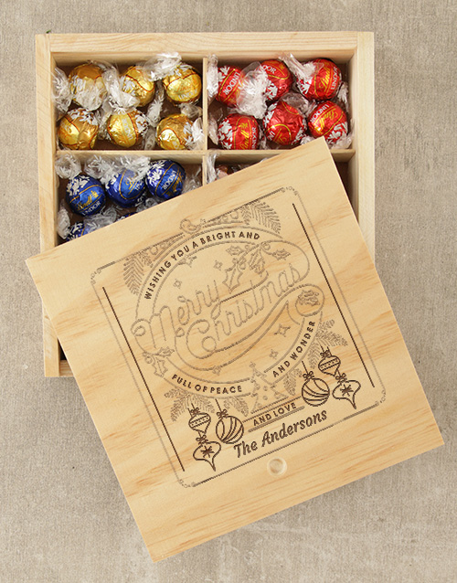 get-well: Personalised Christmas Wonder Lindt Box!