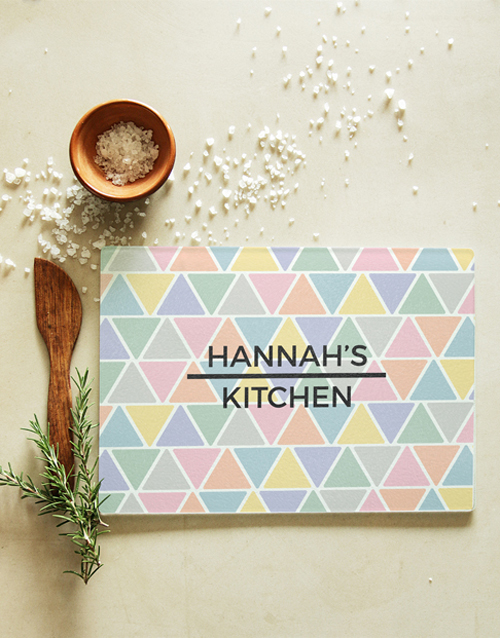homeware: Personalised Patterned Glass Chopping Board!