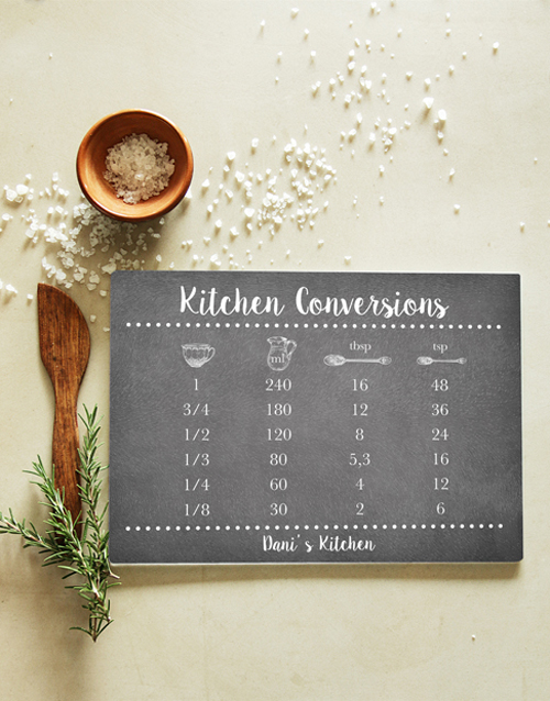 homeware: Personalised Kitchen Glass Chopping Board!