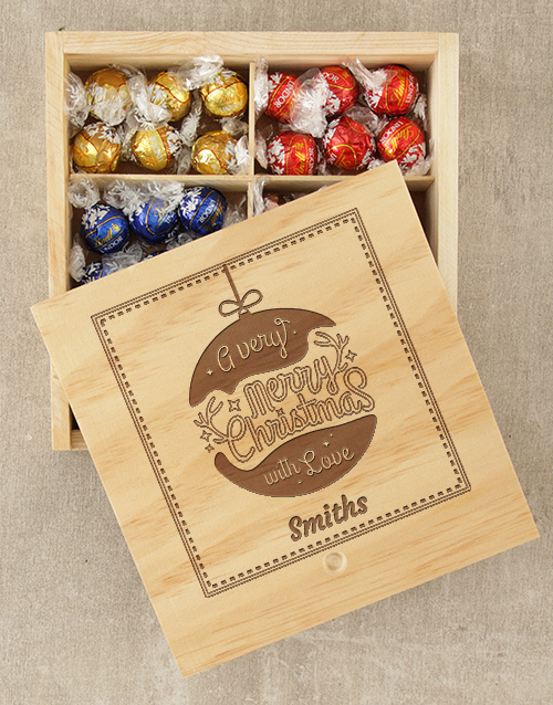 christmas: Personalised Christmas Love Lindt Box!