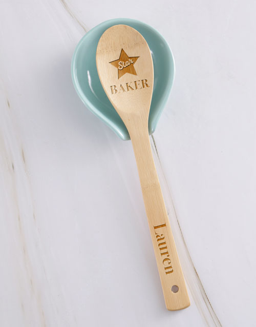 mothers-day: Personalised Star Baker Wooden Spoon!
