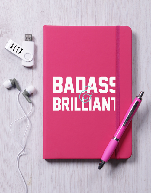 secretarys-day: Personalised Badass and Brilliant Tech Set!