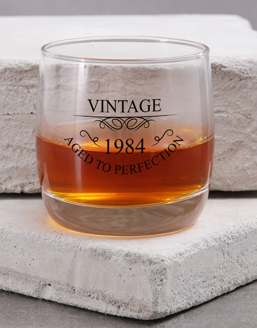 personalised: Personalised Aged to Perfection Whiskey Glass!