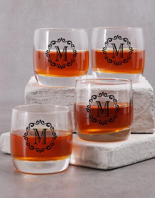 personalised: Personalised Mongram Whiskey Glass!