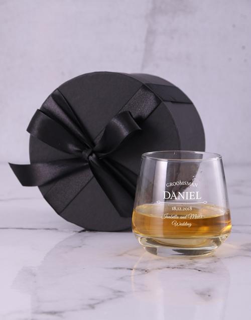 personalised: Personalised Groomsman Whiskey Glass!