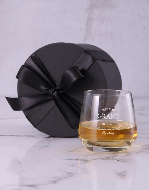 homeware: Personalised Best Man Whiskey Glass!