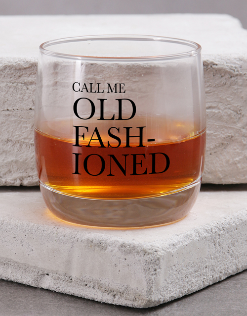 homeware: Personalised Old Fashioned Whiskey Glass!