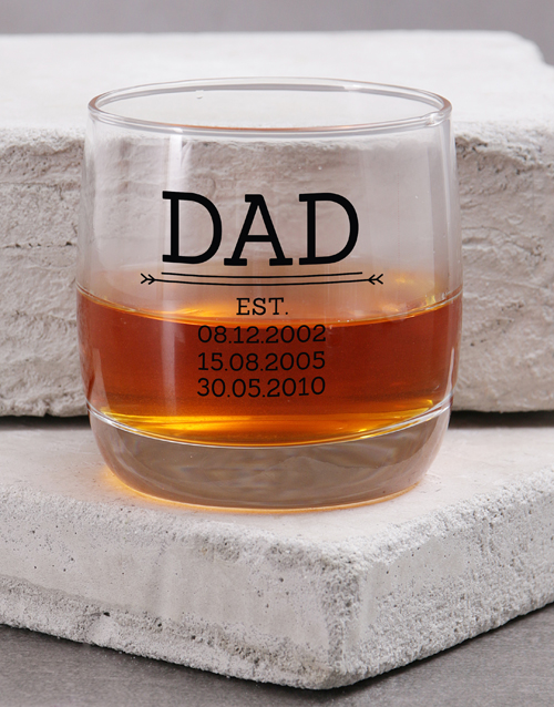 fathers-day: Personalised Dad Est. Whiskey Glass!
