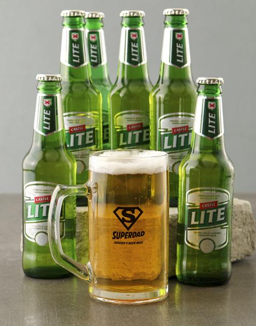 personalised: Personalised Superdad Beer Mug!