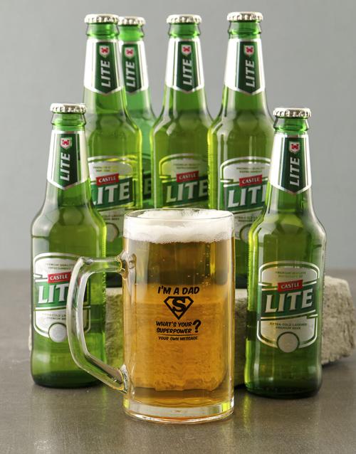 personalised: Personalised I Am A Dad Beer Mug!