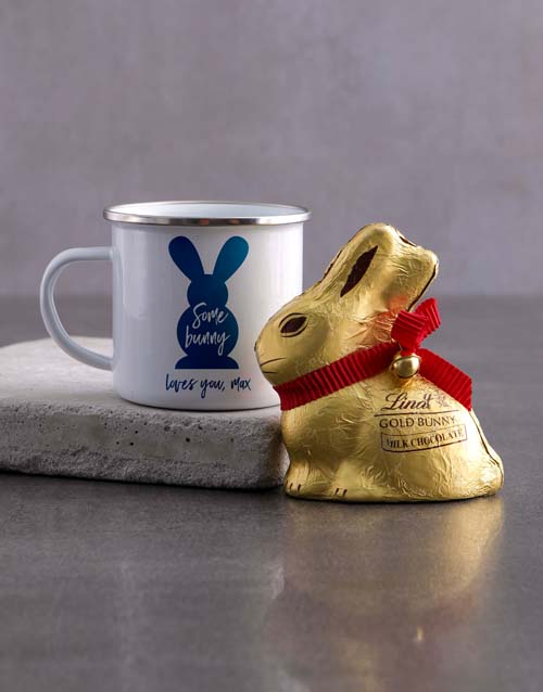 gifts: Personalised Some Bunny Camper Mug!